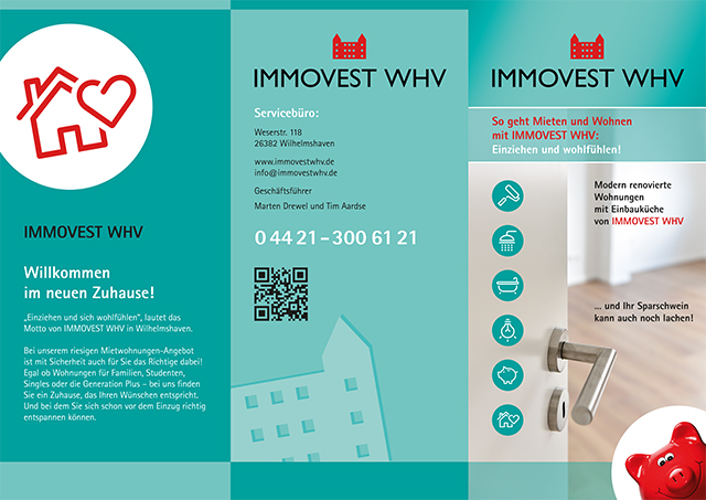 Flyer und Folder - IMMOVEST